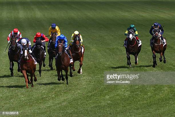 Kerrin McEvoy riding The United States wins Race 4 in The Ranvet Stakes during Golden Slipper Day at Rosehill Gardens on March 19 2016 in Sydney...