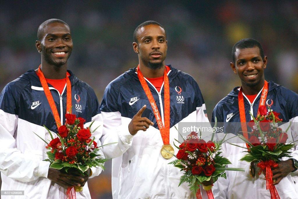 Kerron CLEMENT / Angelo TAYLOR / Bershawn JACKSON - - 400 metres haies - Athletisme - Jeux Olympiques 2008,