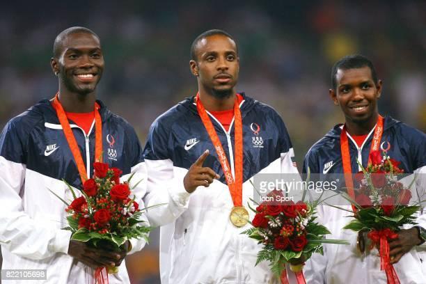 Kerron CLEMENT / Angelo TAYLOR / Bershawn JACKSON 400 metres haies Athletisme Jeux Olympiques 2008