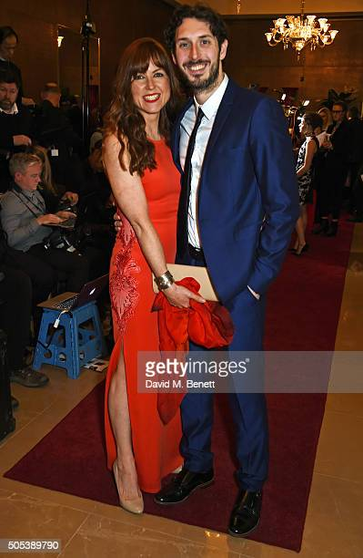Kerry Ann Lynch and Blake Harrison arrive at The London Critics' Circle Film Awards at The May Fair Hotel on January 17, 2016 in London, England.