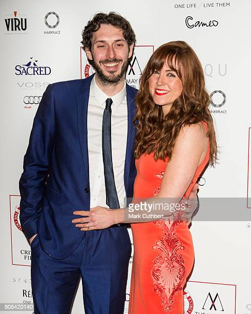 Kerry Ann Lynch and Blake Harrison attend The London Critics' Circle Film Awards at The Mayfair Hotel on January 17, 2016 in London, England.