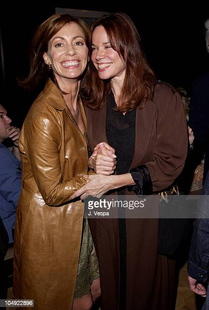 Kerry Armstrong Barbara Hershey during AFI Film Festival 2001 Lion's Gate Films Lantana Premiere After Party at Arnie Morton's Restuarant in Los...