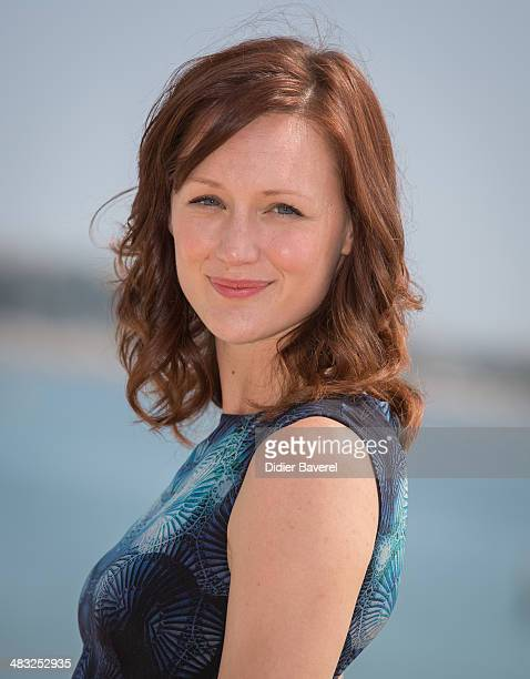 Kerry Bishe poses during the photocall of 'Halt Catch Fire' at MIPTV 2014 at Hotel Majestic on April 7 2014 in Cannes France