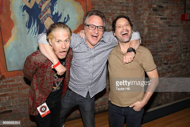 Kerry Black Jason Weinstock and Jonathan Mayers attend the 2018 Relix Live Music Conference at Brooklyn Bowl on May 9 2018 in New York City