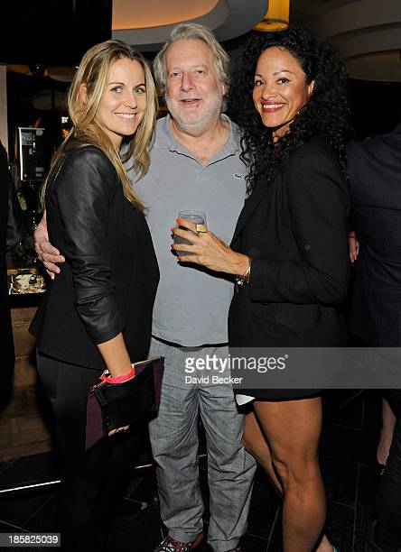 Kerry Bromberg chef Jonathan Waxman and Grace Emanuel attend the kick off for the Life is Beautiful Festival at the Nobu Restaurant and Lounge...