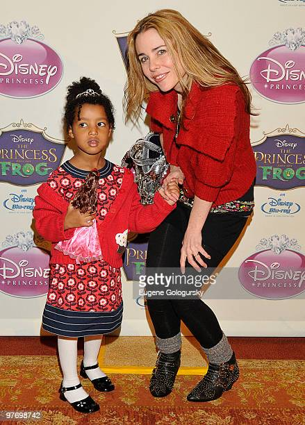 Kerry Butler and her daughter Segi Mazzarino attend Princess Tiana's official induction into the Disney Princess Royal Court and The Princess and the...