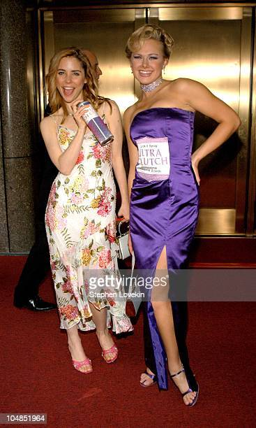 Kerry Butler and Laura Bell Bundy during 2003 Tony Awards Arrivals at Radio City Music Hall in New York City NY United States
