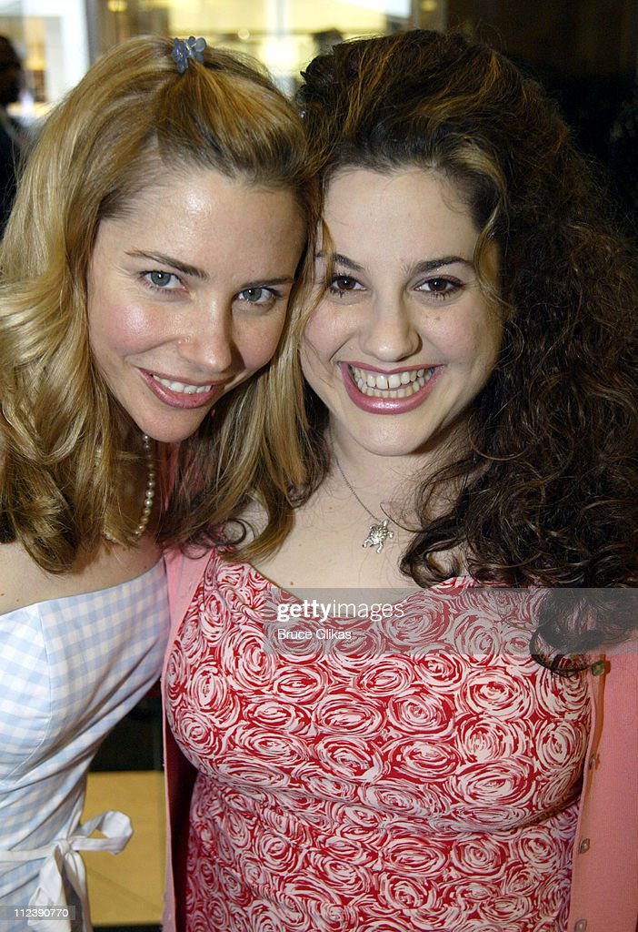 Kerry Butler and Marissa Jaret Winokur during The Official Drama Desk Cocktail Party at St John Boutique in New York City, New York, United States.