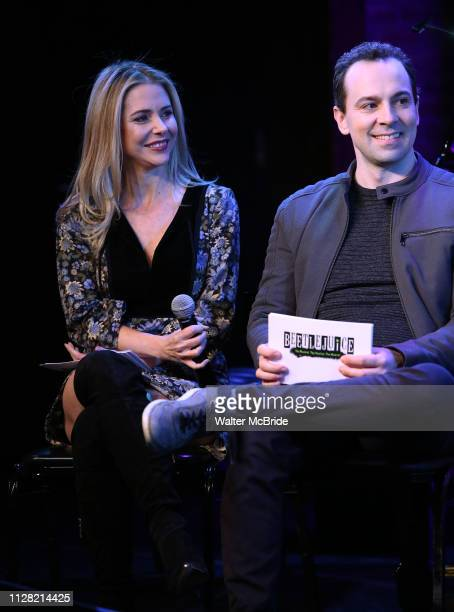 Kerry Butler and Rob McClure during Broadway's 'Beetlejuice' First Look Presentation at Subculture on February 28 2019 in New York City
