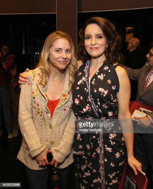 Kerry Butler and Tina Fey during the Actors' Equity Opening Night Gypsy Robe Ceremony honoring Brendon Stimson for 'Mean Girls' at the August Wilson...