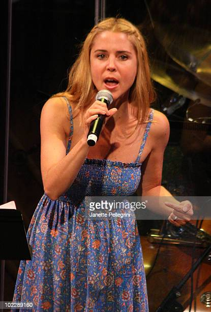 Kerry Butler performs on stage at the 2010 New York Musical Theater Festival Best of the Fest Gala at New World Stages on June 21 2010 in New York...