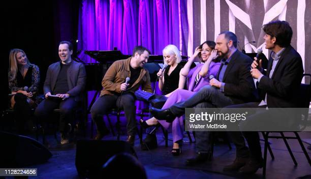 Kerry Butler Rob McClure Alex Brightman Sophia Anne Caruso Leslie Kritzer Adam Dannheisser and Alex Timbers attends Broadway's 'Beetlejuice' First...
