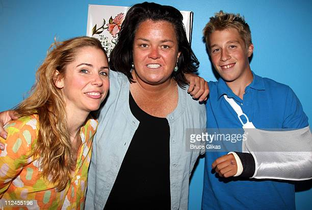 COVERAGE* Kerry Butler Rosie O'Donnell and Parker O'Donnell pose backstage at the musical Xanadu on Broadway at The Helen Hayes Theater on August 1...