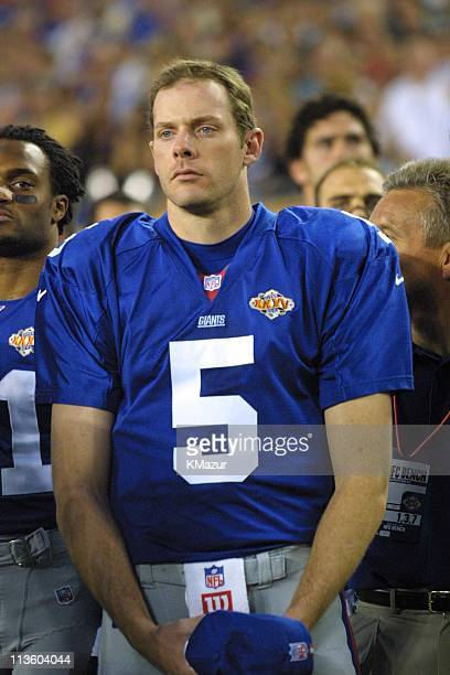 Kerry Collins during Super Bowl XXXV at Raymond James Stadium in Tampa Florida United States