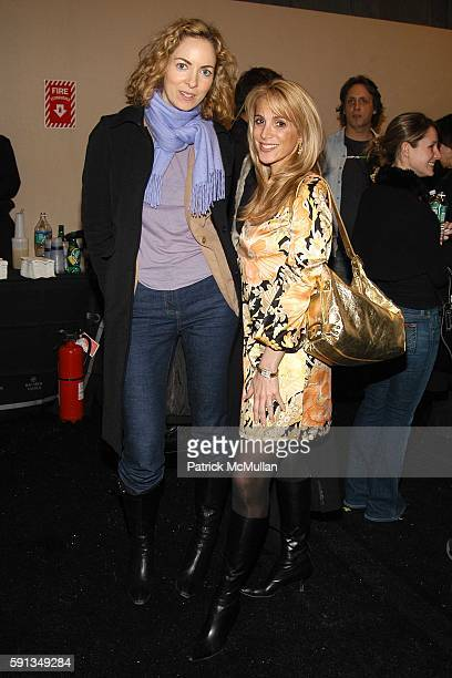 Kerry Diamond and Alison Brod attend Cynthia Rowley Camp Rowley Fall 2005 Collection Fashion Show at The Atelier Tent on February 9 2005 in New York...