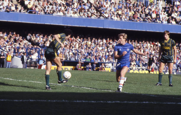 Kerry Dixon of Chelsea in action during the Canon League Division One match between Chelsea and Leicester City held on September 29, 1984 at Stamford...