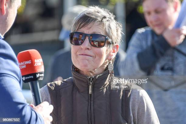 Kerry Edwards after winning the Lara Community Bank Maiden Plate at Geelong Racecourse on June 22 2018 in Geelong Australia