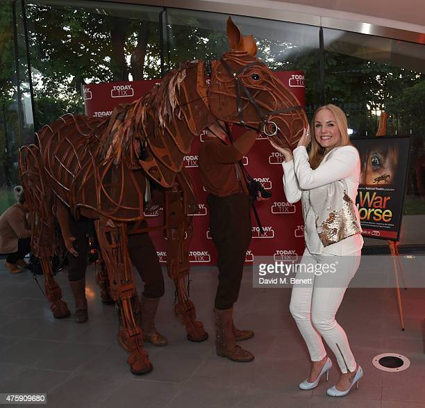 Kerry Ellis attends as TodayTix celebrate the launch of their UK app with an exclusive party in London's Hyde Park at The Magazine restaurant at The...