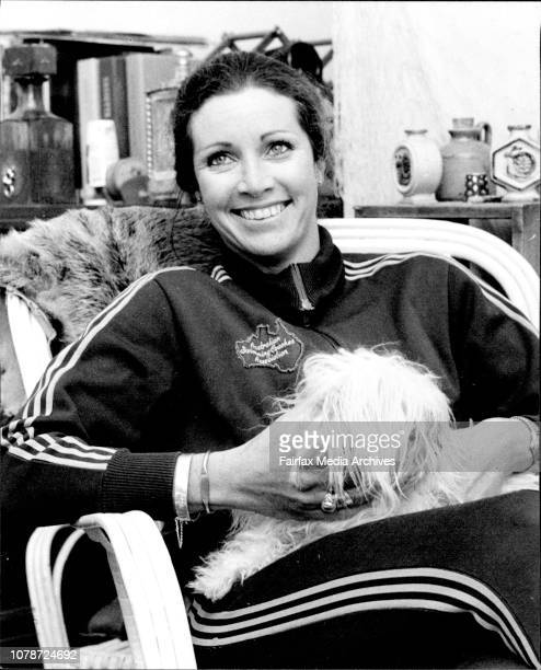 Kerry Ferguson a swimming coach who refused to join a union pictured resting at her Granville home between coaching lessons September 07 1977