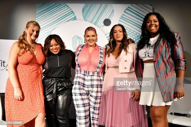 Kerry Justich Denise Caldwell Ashley Nell Tipton Rochelle Johnson and Hayet Rida speak onstage during theCURVYcon Powered By DiaCo on September 8...