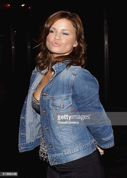 Kerry Katona arrives at RTE studios to record The Late Late Show on January 14, 2005 in Dublin, Ireland.
