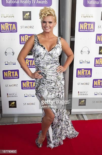Kerry Katona Arrives At The National Reality Tv Awards At O2 Arena London