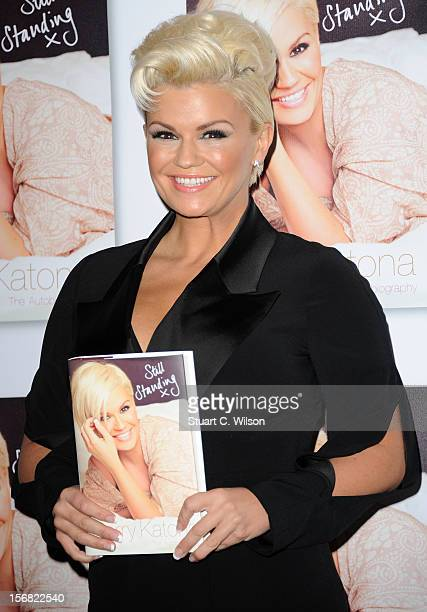 Kerry Katona attends a photocall to launch her book 'Still Standing' at Century Club on November 22 2012 in London England