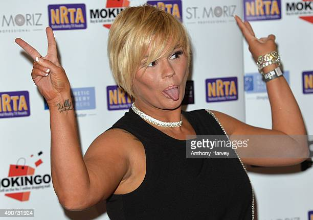Kerry Katona attends the National Reality TV Awards at Porchester Hall on September 30 2015 in London England