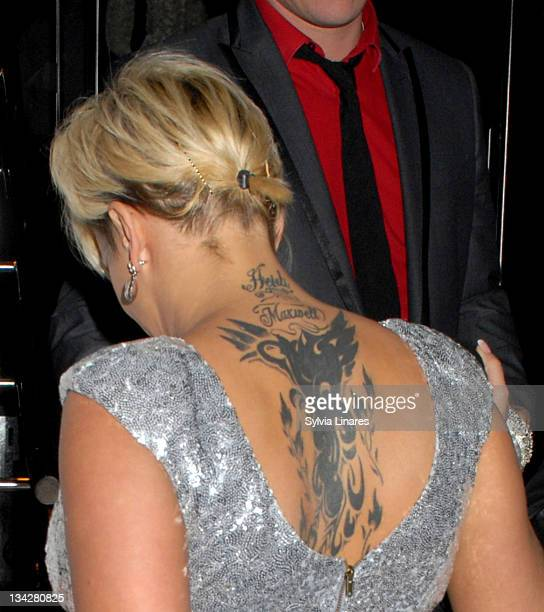 Kerry Katona attends the OK Magazine Christmas Party held at Floridita Restaurant on November 29 2011 in London England