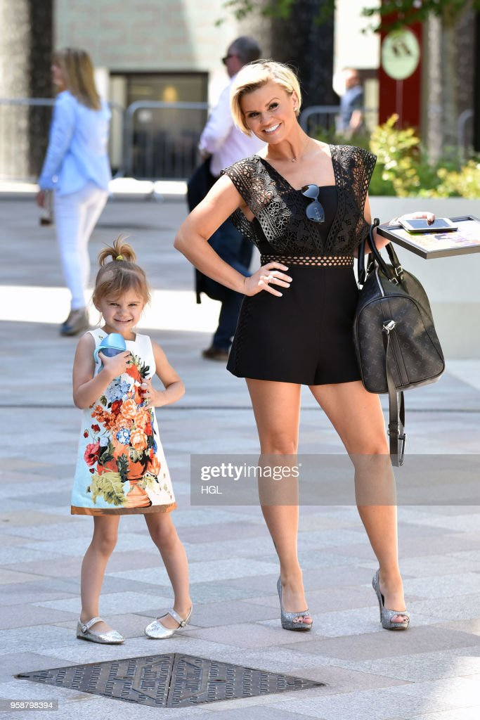 Kerry Katona & daughter Dylan-Jorge seen at the ITV Studios on May 15, 2018 in London, England.