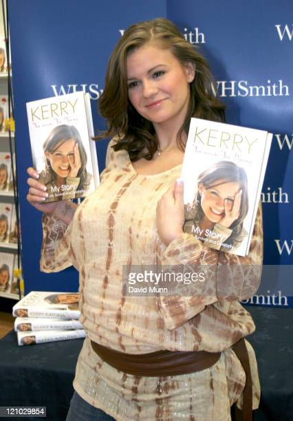 Kerry Katona during Kerry Katona Signs Copies of Her Book Too Much Too Young at WH Smiths October 11 2006 at WH Smiths in Liverpool Merseyside Great...
