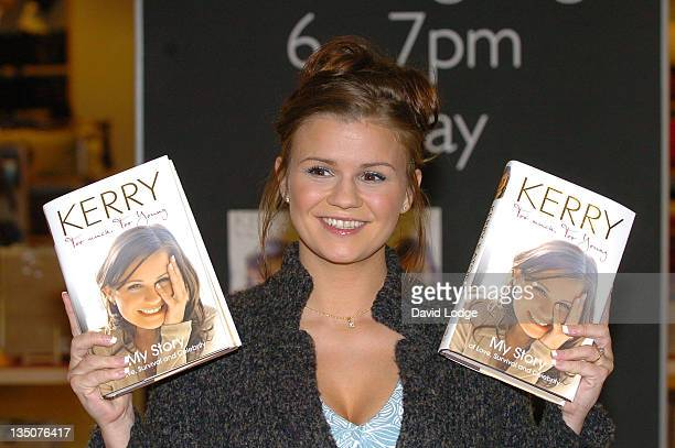 Kerry Katona during Kerry Katona signs copies of her new book 'Too Much Too Young' at John Lewis October 6 2006 at John Lewis Bluewater in Greenhithe...