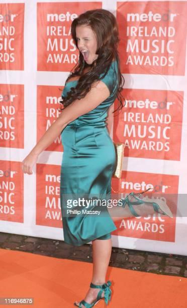 Kerry Katona during Meteor Ireland Music Awards 2006 Red Carpet at The Point in Dublin Ireland