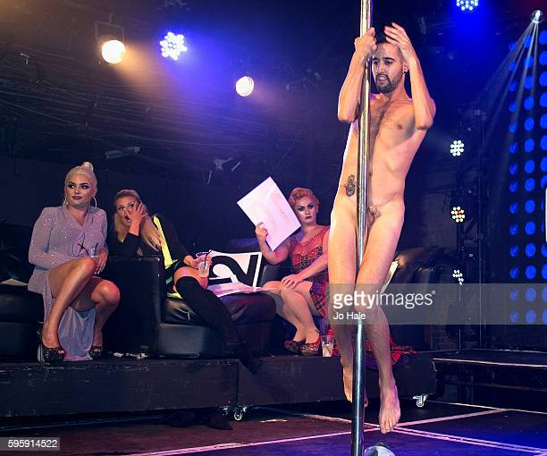 Kerry Katona GAY Judge at Porn Idol watches contestants performing at GAY Heaven on August 25 2016 in London England
