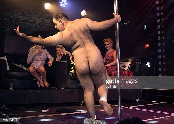 Kerry Katona judges GAY Porn Idol as Kassan dances at GAY on August 25 2016 in London England