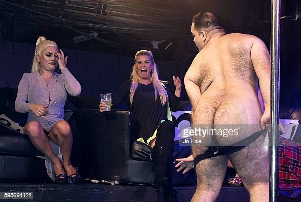 Kerry Katona judges GAY Porn Idol with Winner Kassan at GAY Heaven on August 25 2016 in London England