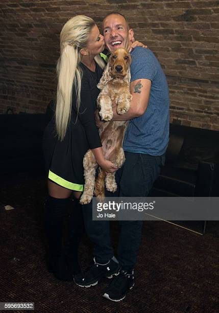 Kerry Katona judges Porn Idol pictured with Jeremy Joseph and Jacob at GAY Heaven on August 25 2016 in London England