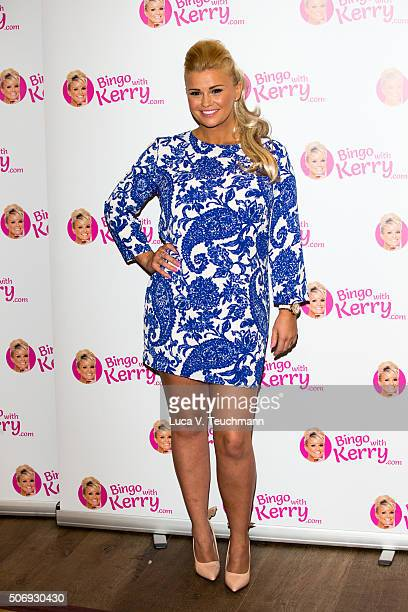 Kerry Katona launches her new venture 'Bingo With Kerry' on January 26 2016 in London England