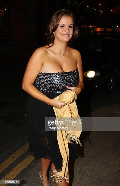 Kerry Katona returning to her hotel on October 19 2007 in Dublin Ireland