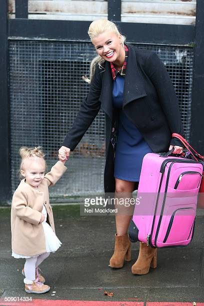Kerry Katona seen at the ITV Studios after appearing on Loose Women on February 8 2016 in London England