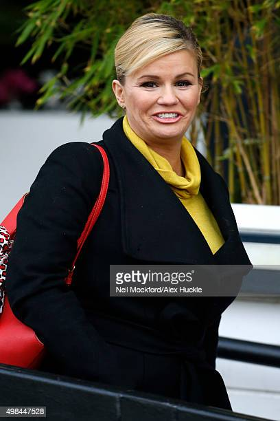Kerry Katona seen leaving the ITV Studios after hosting 'Loose Women' on November 23 2015 in London England Photo by Neil Mockford/Alex Huckle/GC...