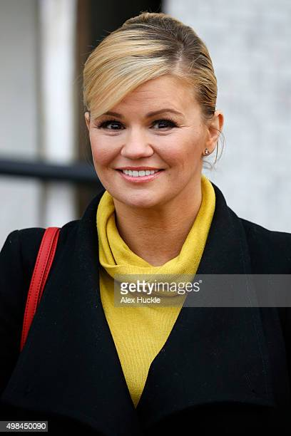 Kerry Katona seen leaving the ITV Studios after hosting 'Loose Women' on November 23 2015 in London England Photo by Alex Huckle/GC Images