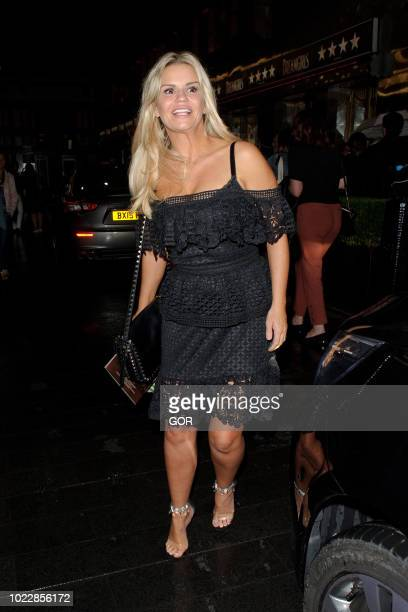 Kerry Katona seen leaving the Savoy theatre on August 24 2018 in London England