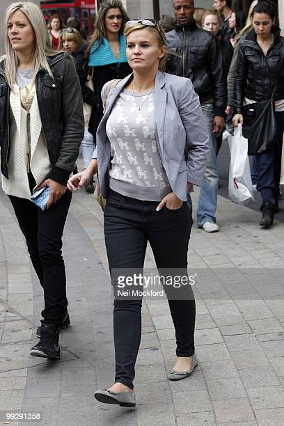 Kerry Katona sighted shopping at Zara and TopShop on Oxford Street on May 5 2010 in London England