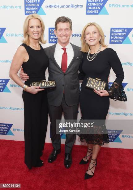 Kerry Kennedy Alex Gorsky and Patricia Gorsky attend Robert F Kennedy Human Rights Hosts Annual Ripple Of Hope Awards Dinner on December 13 2017 in...