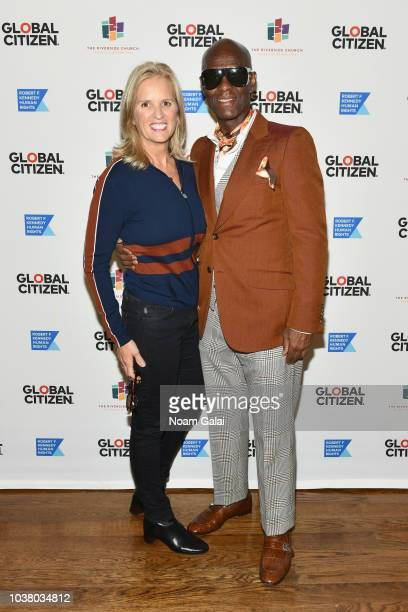 Kerry Kennedy and Dapper Dan attend Global Citizen Week: The Spirit Of A Movement at Riverside Church on September 22, 2018 in New York City.