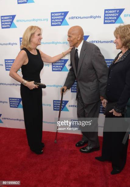Kerry Kennedy and Harry Belafonte attend Robert F Kennedy Human Rights Hosts Annual Ripple Of Hope Awards Dinner on December 13 2017 in New York City