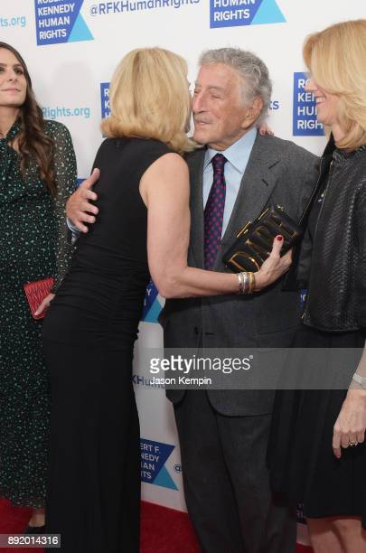 Kerry Kennedy and Tony Bennett attend Robert F Kennedy Human Rights Hosts Annual Ripple Of Hope Awards Dinner on December 13 2017 in New York City