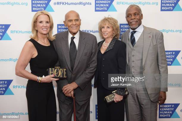 Kerry Kennedy Harry Belafonte Pamela Frank and Danny Glover attend Robert F Kennedy Human Rights Hosts Annual Ripple Of Hope Awards Dinner on...