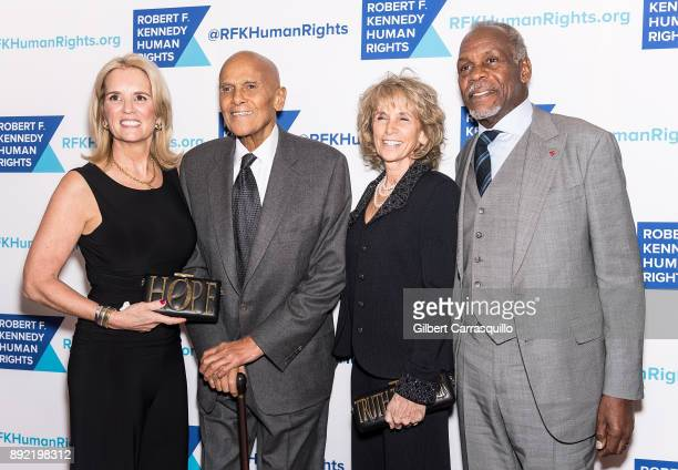 Kerry Kennedy Harry Belafonte Pamela Frank and Danny Glover attend Robert F Kennedy Human Rights Hosts Annual Ripple Of Hope Awards Dinner at New...
